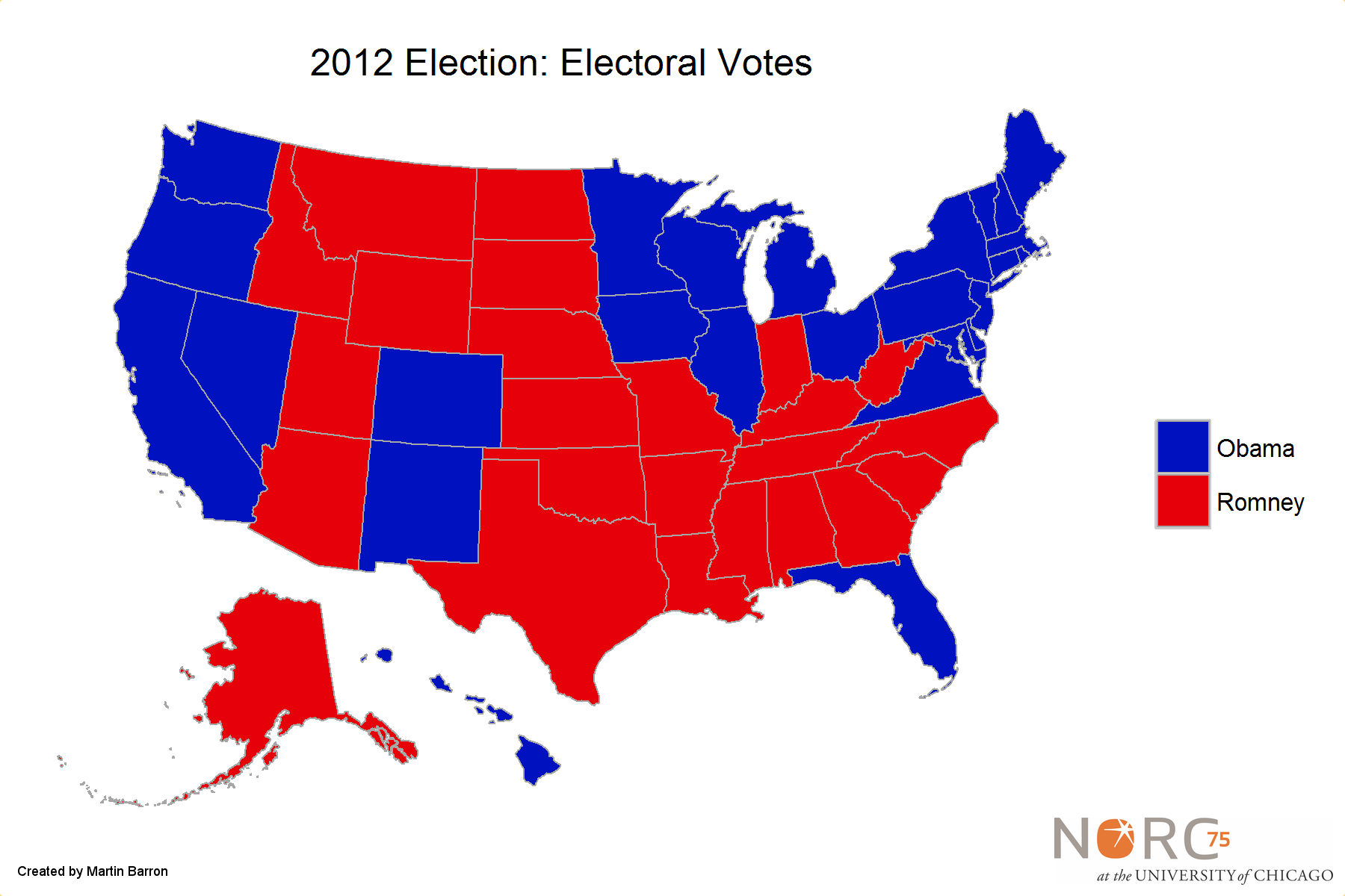 Sparks Post - Us electoral college weight map