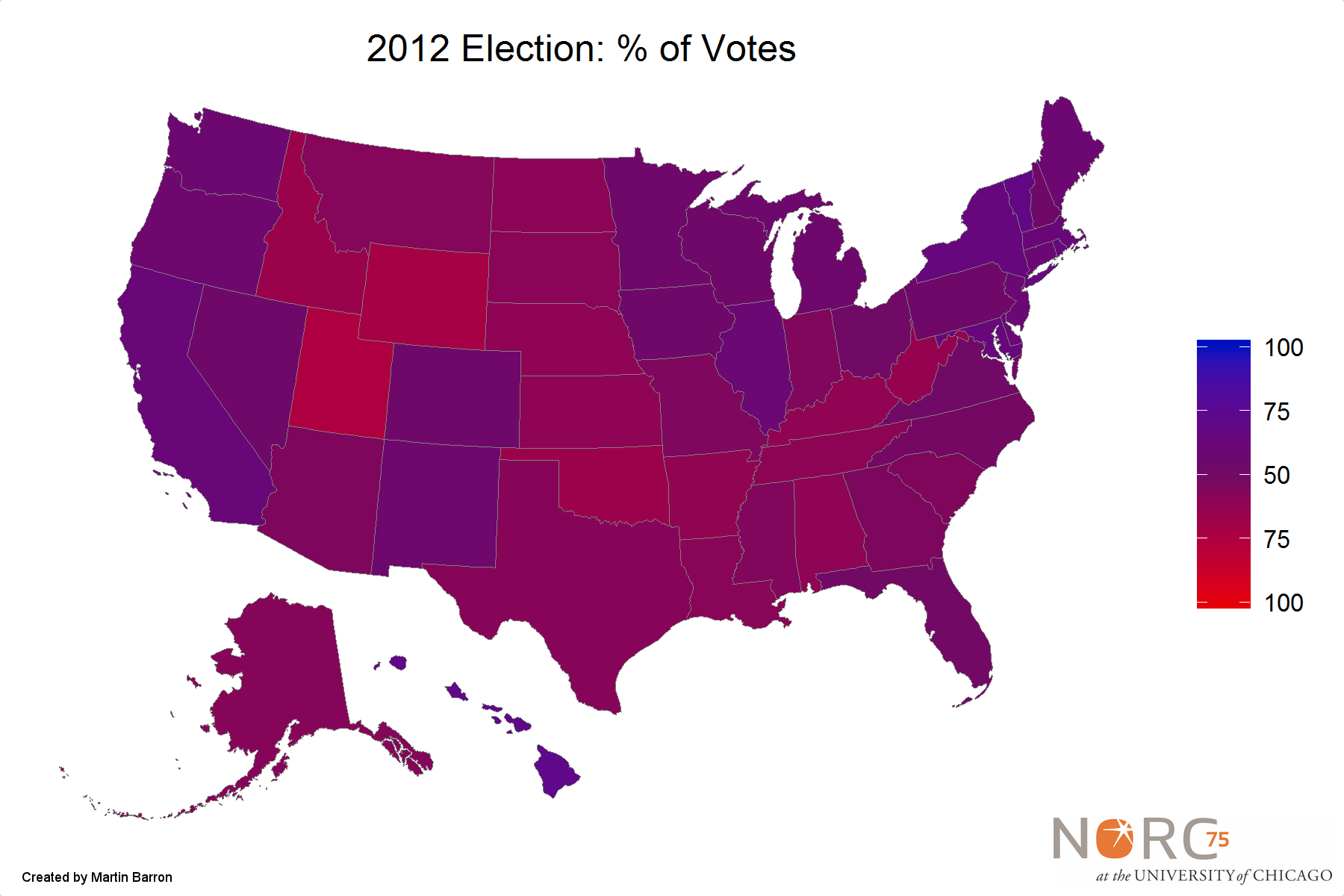Sparks Post - Us states election map